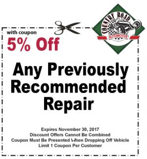 5% Off Any Previously Recommended Repair
