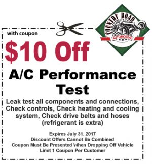 $10 Off A/C Performance Test