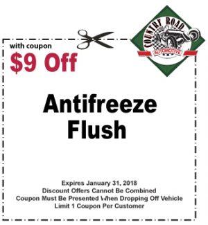 $9 Off Antifreeze Flush