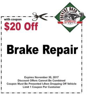 $20 Off Brake Repair