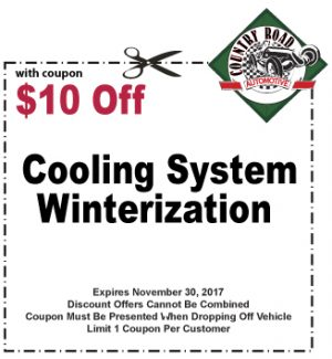 $10 Off Cooling System Winterization