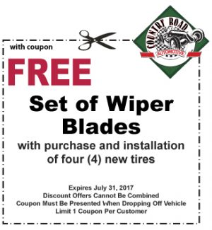 Free Set of Wiper Blades with Purchase/Install of 4 New Tires