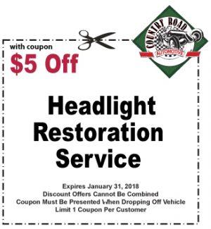 $5 Off Headlight Restoration Service