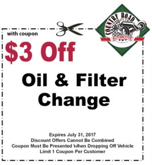 $3 Off Oil & Filter Change