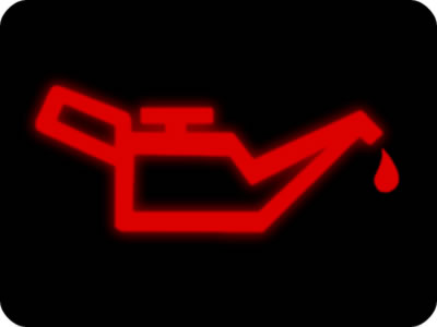 Don't drive your vehicle if the engine oil light is on.